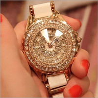 2014 new arrival casual watches wrist watches diamond luxury (Color: Ivory) = 1956513668