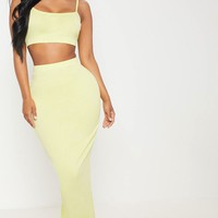 Shape Chartreuse Strappy Crop Top