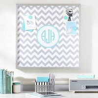 Magnetic Wall Art, Silver Chevron with Pool
