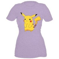 Pokemon Pikachu Front And Back Womens T-Shirt Plus Size 3XL