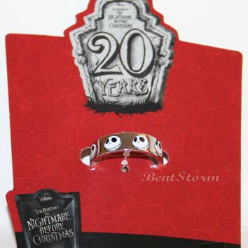 Licensed cool NEW Disney The Nightmare Before Christmas Jack FACES UNISEX Costume Ring Size 6