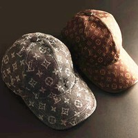 LV Print Strap Cap Adjustable Golf Snapback Baseball Hat Cap H-A-XYCL
