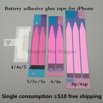 Anti-Static Battery Adhesive Strips Sticker Tape Glue Replacment Part For Apple iPhone 4 4G 4S 5 5G 5C 5S 6 6S PLUS 6P Pull Tab