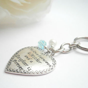 Mother Daughter Keychain - Personalized Keychains - Quote Keyring - Gift for Mum - Custom Keyrings - Mother of the bride - Mom Gifts