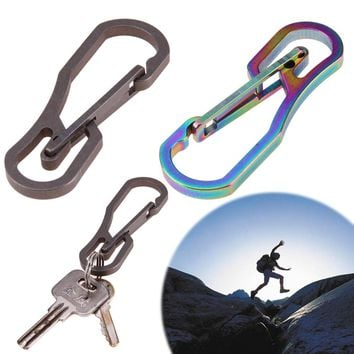 Multifunction Tool Titanium High Loading-bearing Hook EDC Tool 25KN Carabiner Keychain Outdoor Camping Hiking Tool