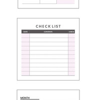 Make Your Plan Tear-Off Notes in Weekly, Monthly, or Checklist