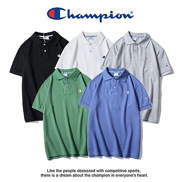 2019 Champion Classic Small Logo Embroidery Polo Tshirt M--XXL