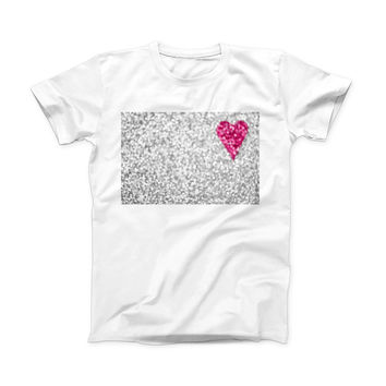 The Unfocused Heart Glimmer ink-Fuzed Front Spot Graphic Unisex Soft-Fitted Tee Shirt
