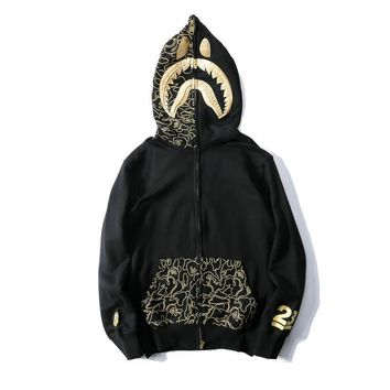 Men's Fashion Embroidery Hats Strong Character Zippers Hoodies Jacket [1568842088532]
