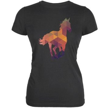 ONETOW Horse Geometric Grey Juniors Soft Tank Top
