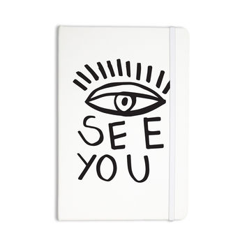 "Vasare Nar ""Eye See You"" White Everything Notebook"