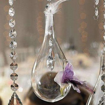 Blown Glass Tear-Drop Vases – Large (Pack of 2)