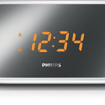 LOT of Philips Mirror-finish Clock Radio, Silver
