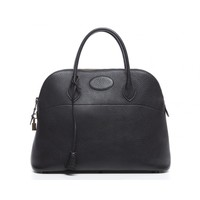 Hermes Black Togo Leather Bolide 35cm Satchel Tote Bag
