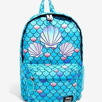 Loungefly Disney The Little Mermaid Holographic Shell Scale Backpack