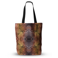 "Pia Schneider ""Floral Fall Pattern"" Maroon Floral Everything Tote Bag"