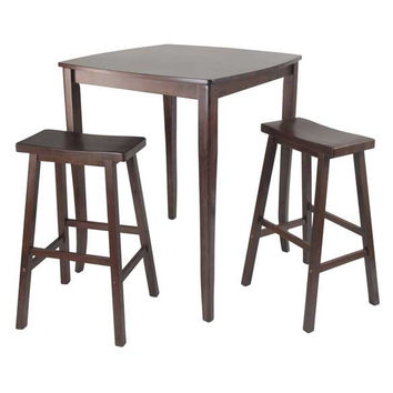 3 Piece Inglewood High/Pub Dining Table with Saddle Stool