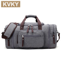 KVKY New Men's Travel Bag Large Capacity Handbag Travel Duffle Bags High Quality Canvas Weekend Bags Multifunctional Travel Tote