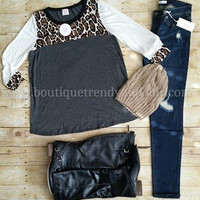 DON'T MISS A BEAT TOP IN LEOPARD