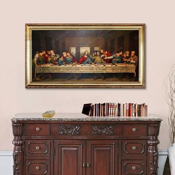 Christmas decorations for home of Jesus Christ, Da Vinci The Last Supper wall pictures, poster and print  on Canvas