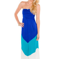 Skye Maxi Dress - Blue