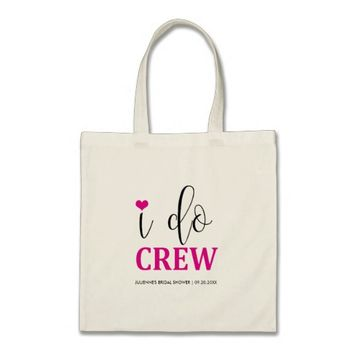 "Hot Pink ""I do Crew "" Bridal Shower Tote"