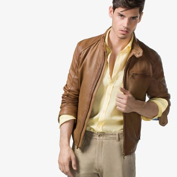 NAPPA LEATHER JACKET - Jackets - MEN - United States - Massimo Dutti