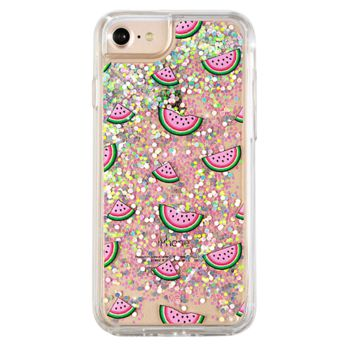 Watermelon Dual Glitter iPhone Case