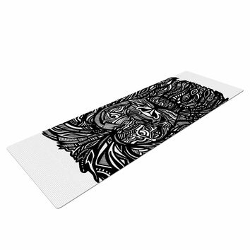 "Adriana De Leon ""The Leon"" Lion Illustration Yoga Mat"