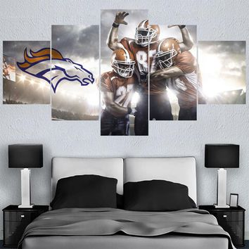 Football Team Animal Paintings Denver Broncos Modern Home Decor Living Room Bedroom Wall Art Canvas Print Painting Calligraphy