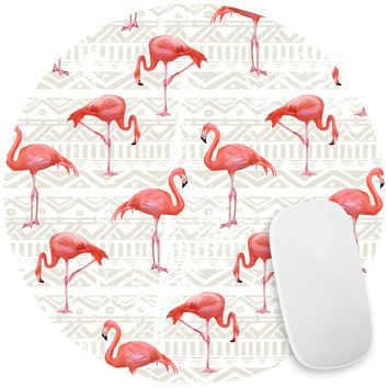 Flamingo Bird Background Mouse Pad Decal
