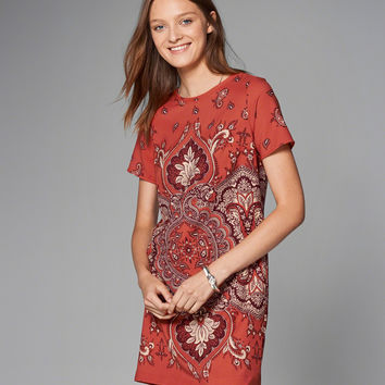 Printed Crepe T-Shirt Dress