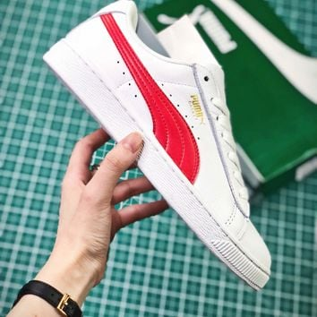 Puma Basket Classic White Red Sneakers - Best Online Sale
