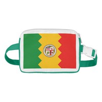 Fanny Pack with Flag of Los Angeles, USA.