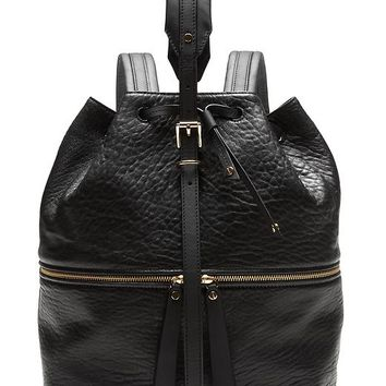 Banana Republic Leather Drawstring Backpack Size One Size - Black