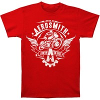 Aerosmith Men's  Livin' On The Edge Mens T T-shirt Red