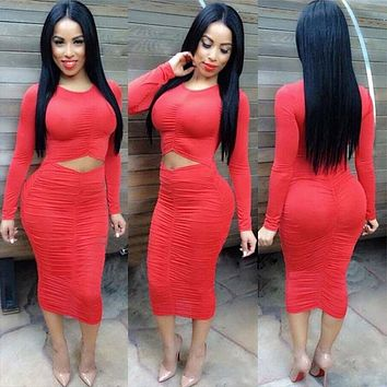 Tight Cut Out Ruched Dress