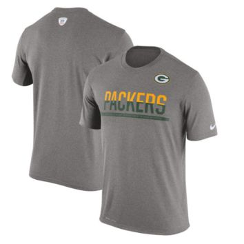 Men's Green Bay Packers Nike Team Practice Legend Performance Gray T-Shirt