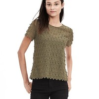 Banana Republic Womens Teardrop Lace Top