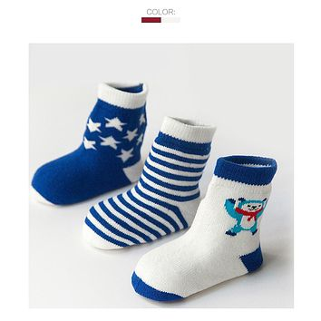 Little Stars Striped Baby Socks Spring Autumn Baby Birthday Gifts For Children