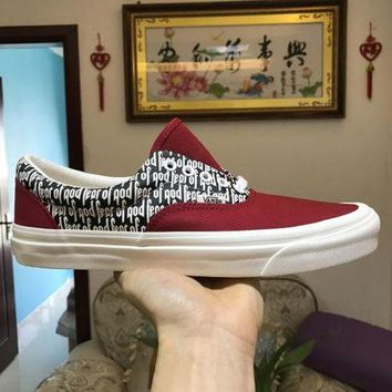 DCCKGV7 Vans x FOG Fear Of God Era 95 Reissu Red / Black / White Classic Casual Leisure Shoes