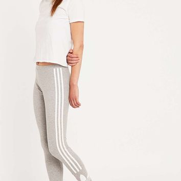 Adidas Three Stripe Leggings in Grey - Urban Outfitters