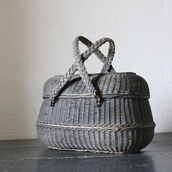 Antique French Woven Basket