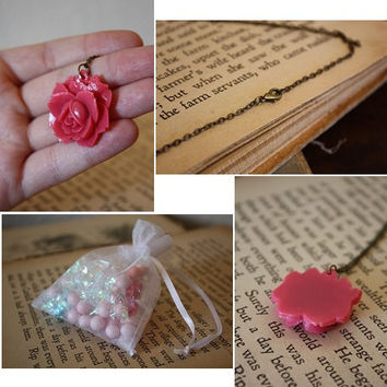 Fairy Tale Necklace - Pink Rose