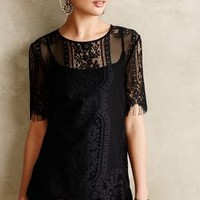 Fringed Lace Tee by Meadow Rue Black