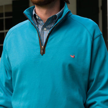 DownpourDry Pullover in Washed Antigua Blue by Southern Marsh