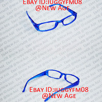 Persona 4 Naoto Shirogane / Blue Square Frame Glasses Cosplay (Without Lenses)