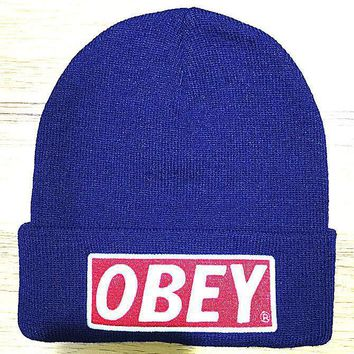 Day-First™ OBEY Hip Hop Women Men Beanies Winter Knit Hat Cap