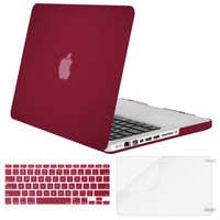 Mosiso 3 in 1 MacBook Pro 13 CD ROM A1278 Plastic Hard Case with Keyboard Cover Only for Old MacBook Pro 13'' (Model A1278),Wine Red - Walmart.com