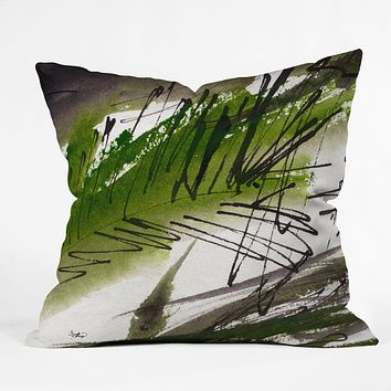 Ginette Fine Art Green Souls 1 Outdoor Throw Pillow